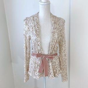 NWT Boston Proper Sequin Lace Cardigan {MS}